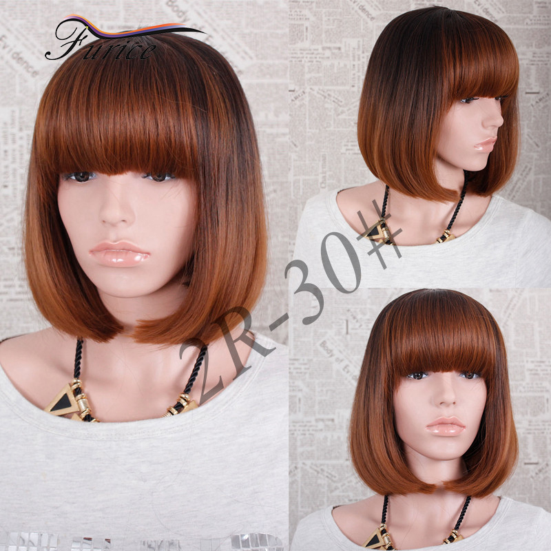 How To Cut Wig Into A Bob Online For Sale Short Bob Wigs With Bangs For  Black Women Party Natural Short Hair Wig Pictures on Aliexpress.com  8e3bd171aa