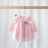 2016 Spring Autumn Brand Children S Wear Dress For Girls Gauze Lace Dress Baby Sweet Princess