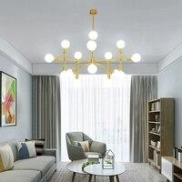 European designer show room golden LED pendant light lamp modern simple brass copper hanging light lamp for foyer dinning room