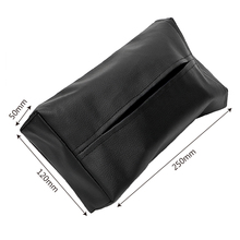 Napkins Holder Car Styling, Tissue Box Portable with Leather Cover