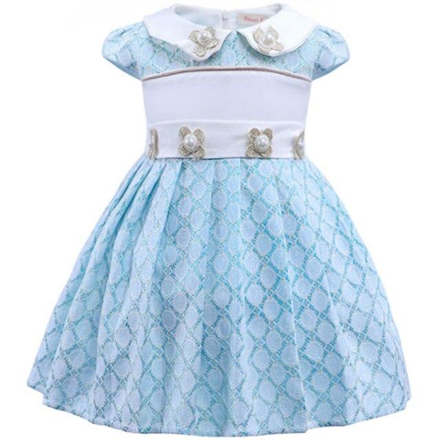 Niña Princesa Un Bebé Stqxdcrh Azul Encaje De Vestidos Año Vestido 1uc3TFJ5lK