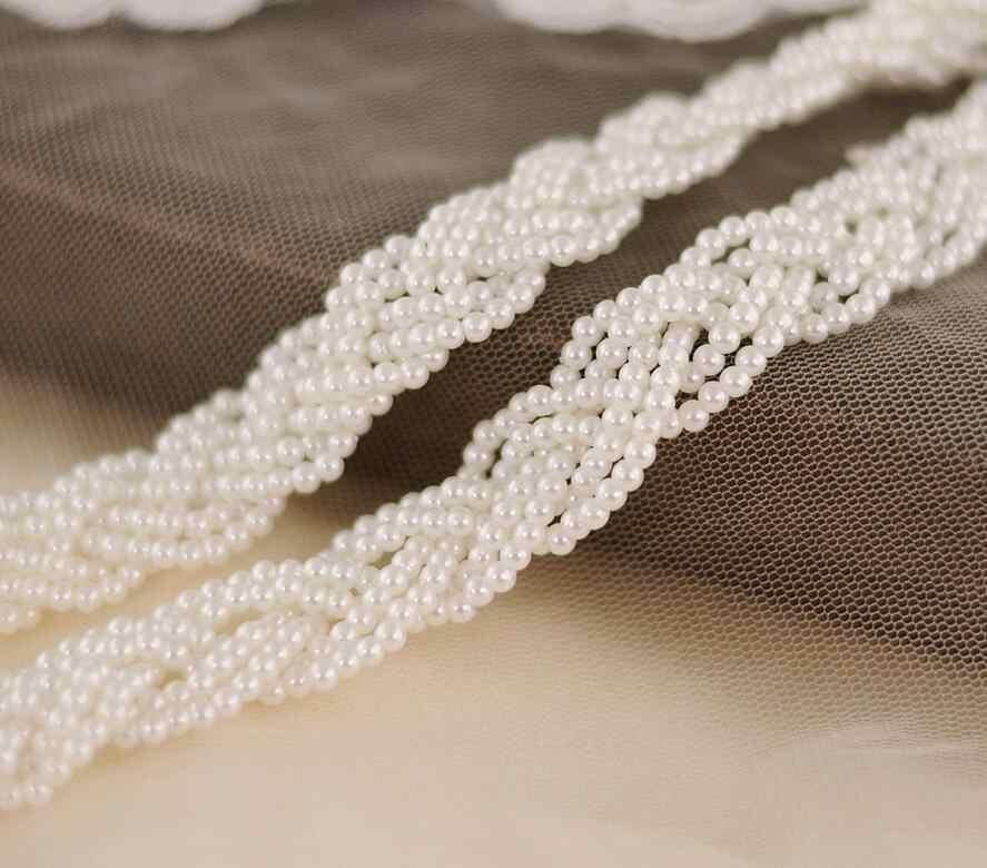 AYiCuthia ไข่มุกงานแต่งงานทำด้วยมือคริสตัลเจ้าสาวคู่แต่งงานเข็มขัด Sash สำหรับงานแต่งงานชุด Y37
