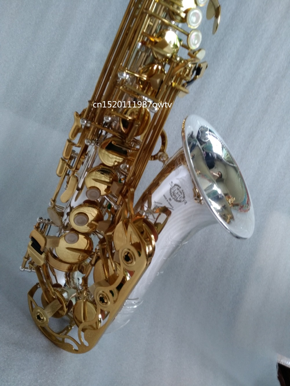 Alto Saxophone Selmer 54 Brass Silver Gold Key E Flat Musical Instruments Saxophone with Cleaning Brush Cloth Gloves Strap Free alto saxophone selmer 54 brass silver gold key e flat musical instruments saxophone with cleaning brush cloth gloves cork strap