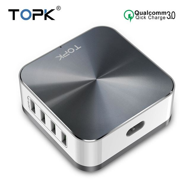 TOPK B829Q 8 ポート 50 ワット急速充電 3.0 USB 充電器 iphone サムスン Xiaomi Huawei 社 EU 米国英国 AU プラグデスクトップ高速電話充電器
