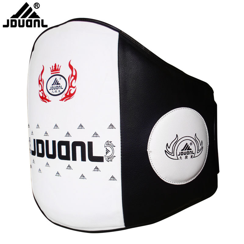 JDUanL Thick Boxing Chest/Waist Trainer Belt Pads Training Protector Muay Thai Fight Karate Sanda MMA Guards Brace Kicking DEO wesing aiba approved boxing gloves 12oz competition mma training muay thai kickboxing sanda boxer gloves red blue