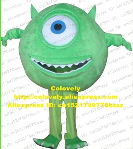 Dogged Green Monsters Inc Mike Wazowski Monster Freak Mascot Costume Cartoon Green Skin One Big Eye Smile No 4155 Free Shipping Monster Dog Costume Smile Smilesmile Cartoon Aliexpress