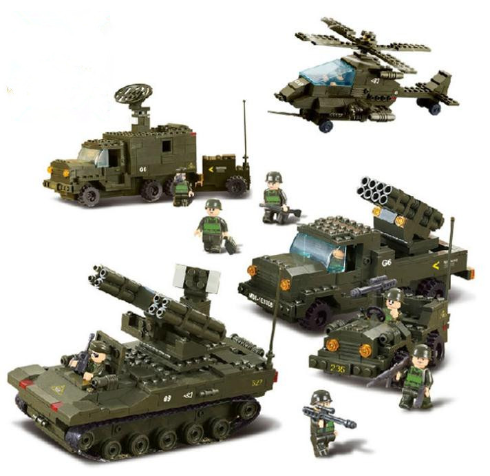 Military Battle Army Troops Tank Fighter Jeep Model