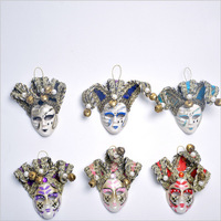 5pcs/lot Fridge Magnet or Collecting Venice Refrigerator Upscale 3D Masks Stickers New Cute Clown Mask Costumes & Accessories