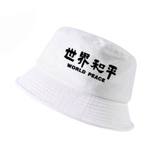 World Peace cap women Men Fashion bucket hat Hieroglyphics World Peace Hip Hop panama fisherman hats gorro pescador