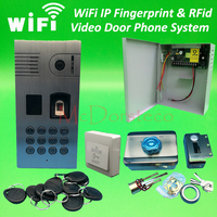 Wifi IP Fingerprint Rfid Video Door Phone Intercom Kit Outdoor Doorbell Rfid Keypad Home Door Security
