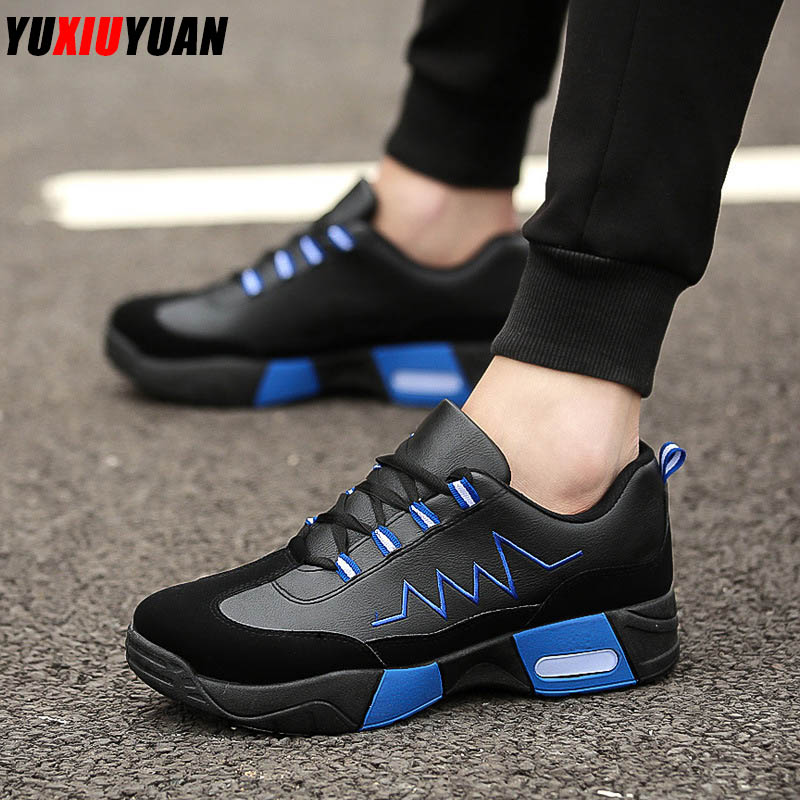 2019 Fashion Air Cushion Breathable Lace-Up Outdoor Running Shoes Men Leisure Cushioning Platform Sport Sneakers