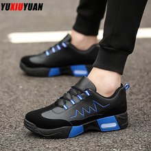 2019 Fashion Air Cushion Breathable Lace-Up Outdoor Running Shoes Men Leisure Cushioning Platform Sport Sneakers цена в Москве и Питере