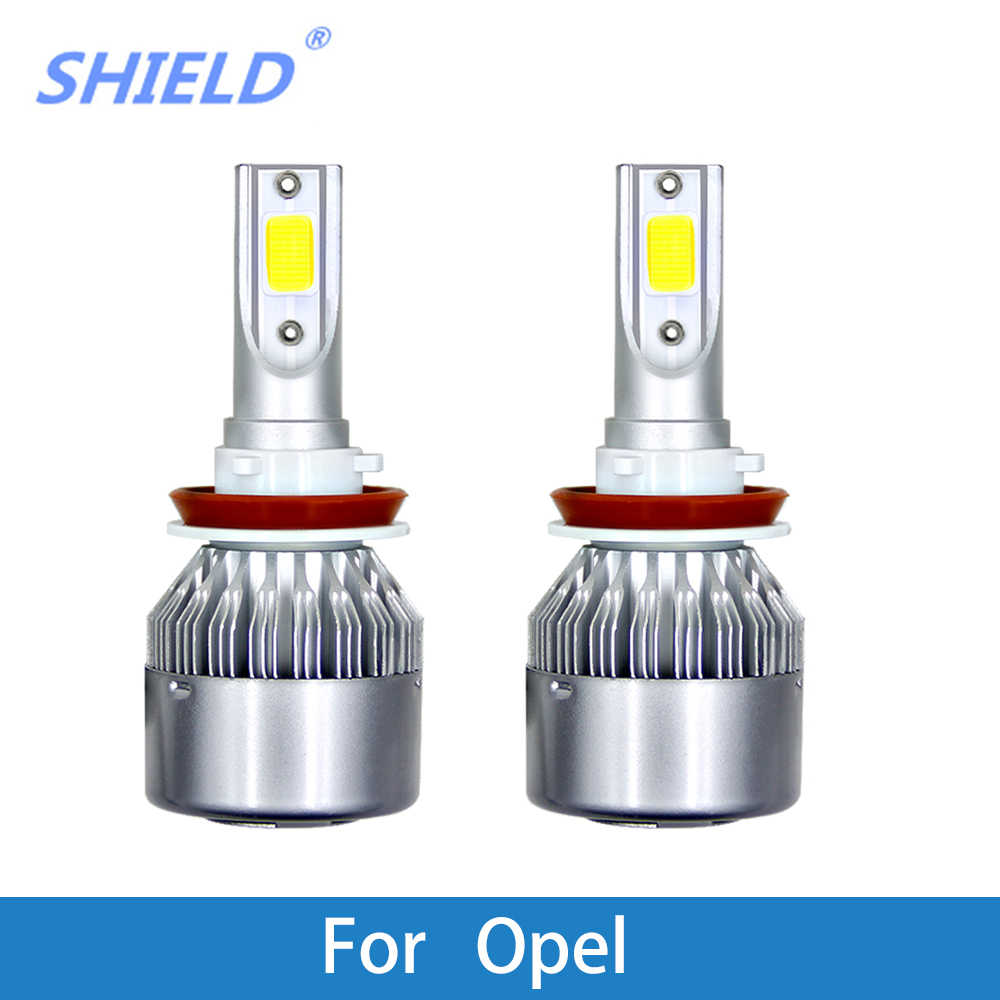 2Pcs H7 LED Car Headlight Bulb H4 LED H11 H1 9005 HB3 9006 HB4 12V Auto Light For Opel Astra Insignia Mokka Corsa Zafira Vectra