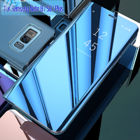 For Samsung Galaxy S8 Case Flip Cover Original Mirror Smart Chip View For Samsung S8 Plus