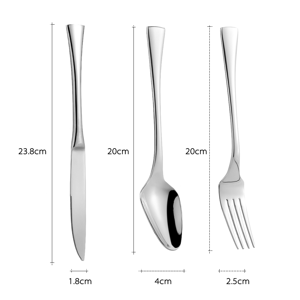 3pcs/set Luxury Western Style Stainless Steel Set Good Quality Solid ...