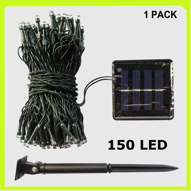 Free shipping 1 PACK 150 LED string light holiday light festival light wedding decoration light 17 meters solar power for garden