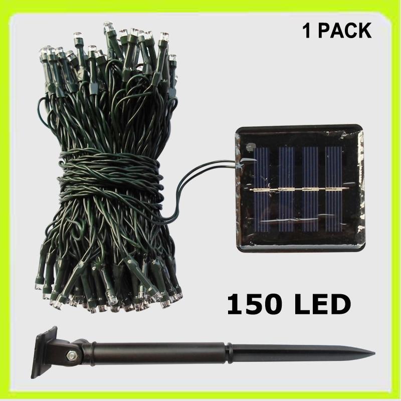 Gratis pengiriman 1 PACK 150 LED string cahaya liburan cahaya festival dekorasi pernikahan cahaya 17 meters tenaga surya untuk taman