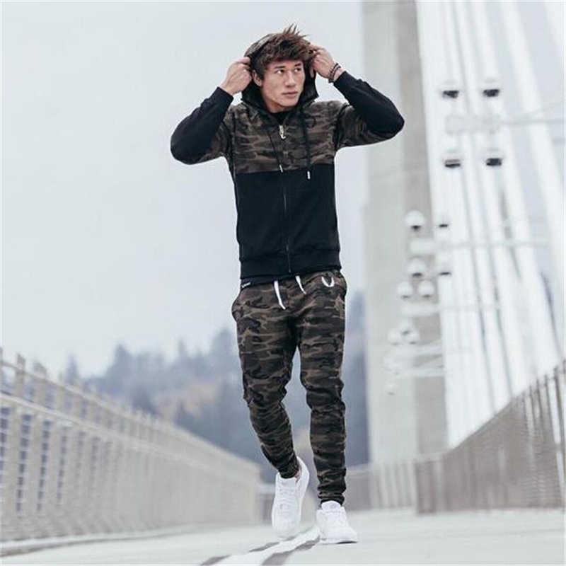 GYMOHYEAH Brand 2018 new fashion spring autumn mens hoodies camouflage style hoodie army sweatshirt tracksuit male hoodie 1