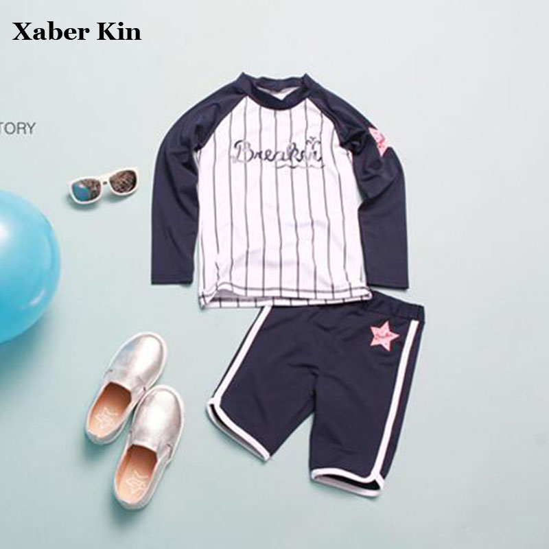 Long Sleeve Boys Swimming Suits Boys Summer Swimsuit Children Bathing Suits Boys Swimwear Surfing Suits G19-K481