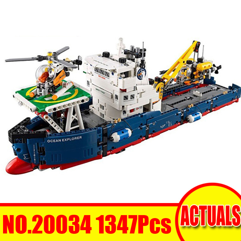 1347Pcs 20002 Lepin Technic Figures Ocean Explorer Building Model Blocks Bricks Set Toys For Children Gift Compatible With 42064 lepin 16006 804pcs pirates of the caribbean black pearl building blocks bricks set the figures compatible with lifee toys gift