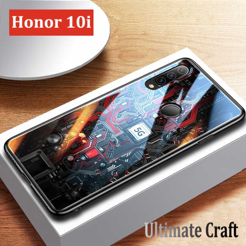 Чехол GFAITH для Honor 10i дизайнерский силиконовый чехол из закаленного стекла с
