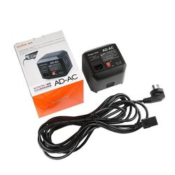 Godox AD-AC AC Power Unit Source Adapter with Cable AC Wall Adapter Cable for AD600B AD600BM AD600M AD600