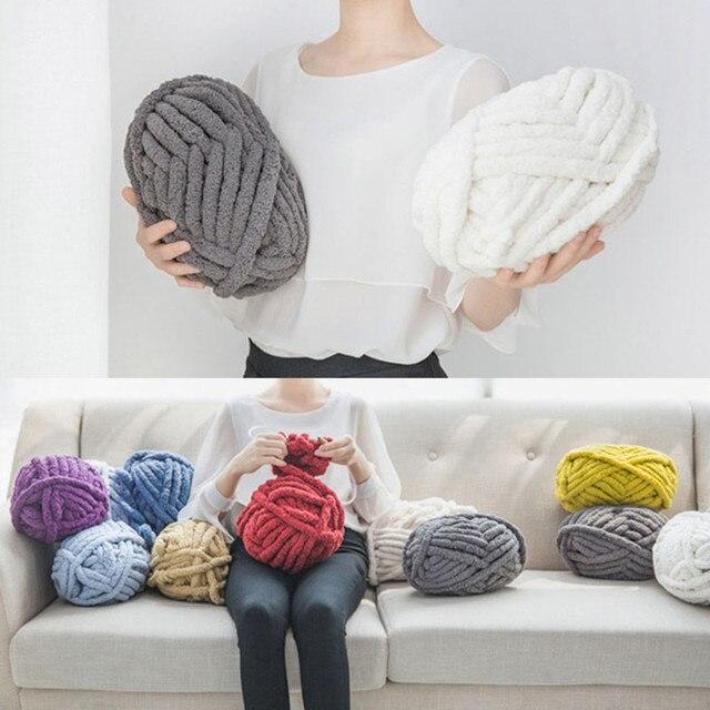 300g tejer a mano DIY Alfombras suéter bufanda sombrero cesta bebé ...