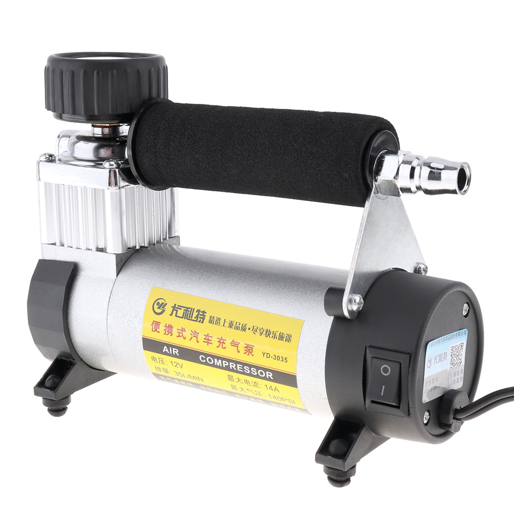 Image 4 - DC 12V Auto Car Tire Inflator 100PSI Car Air Pump 35 L/MIN Car Pumps 100W Air Compressor for Car Bicycles Motorcycles-in Inflatable Pump from Automobiles & Motorcycles