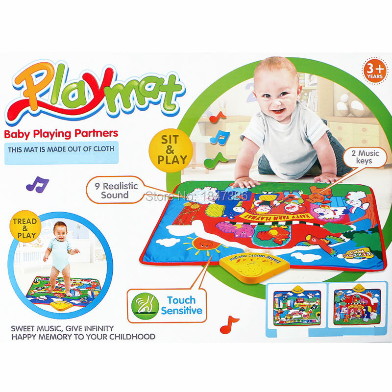 2 Styles Animal Play Mat For Newborn Baby Musical Playmat