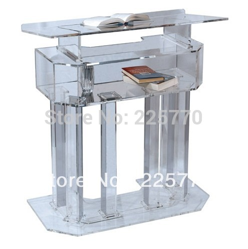 Crystal Clear Transparent Lectern Acrylic School Lectern Podium Office Furniture Podium