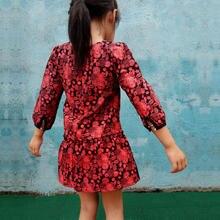 girls long sleeve dress winter kids cotton childrens Christmas Dress dresses