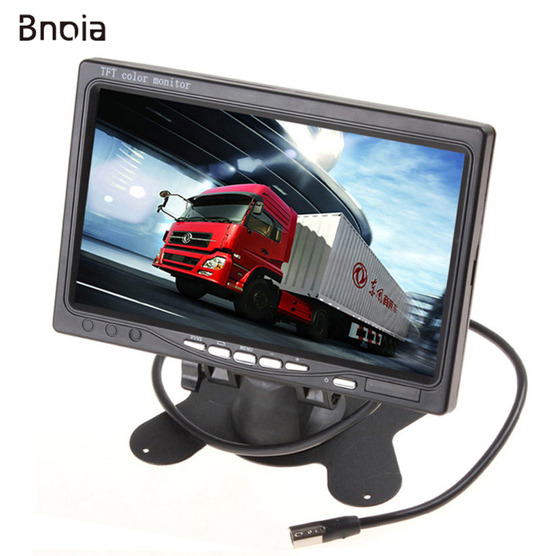 Newest Universal 2 AV Input 7 Inch HD Car Monitor Auto Parking Reverse Backup Camera Digital Video Recoder DVR TFT LCD Display