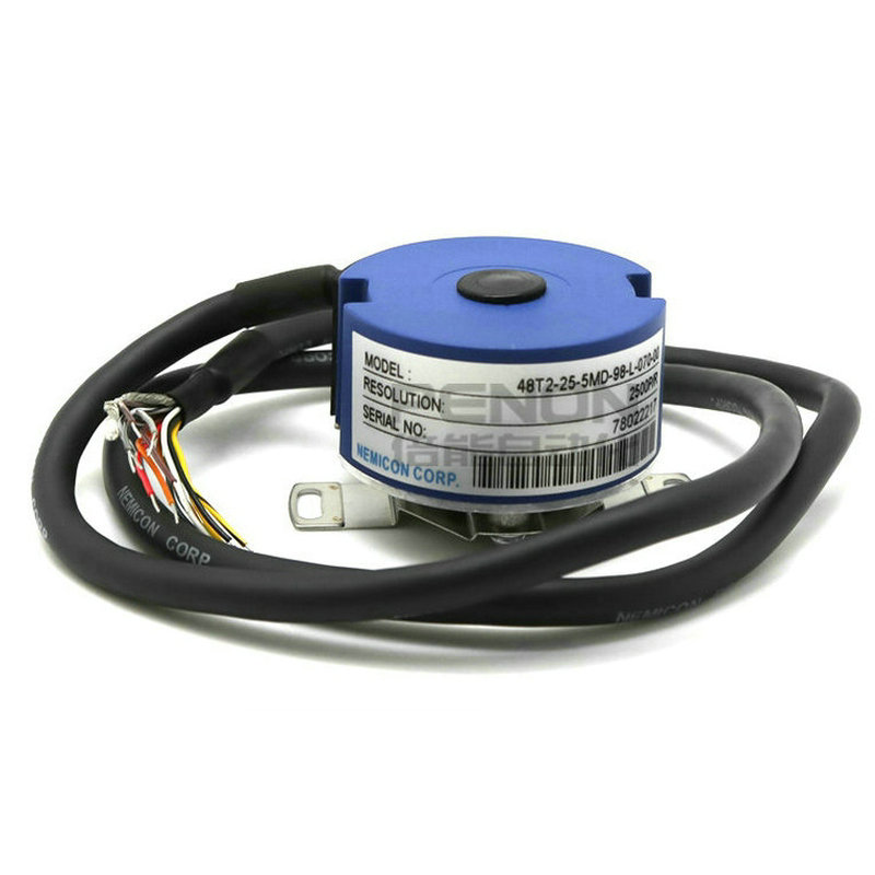 NEMICON rotary ecoder 9mm Taper Shaft 6 channel UVW signal Servo Encoder 48T2-25-5MD-98-L-015-00 within the control of the servo motor encoder 48t2 25 5md 98 h 060 00 replace 48t 25 5md 98 6060 03 48t 25 5md 98 6015 03