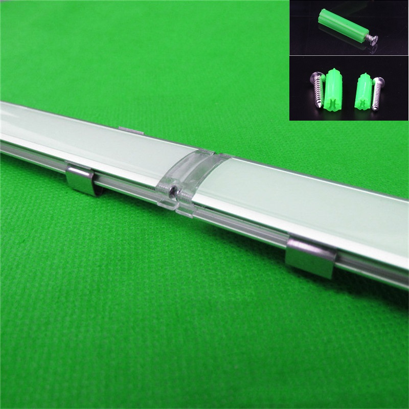 5 30pcs lot ultra slim seamless aluminum profile for led strip milky transparent cover for 15mm