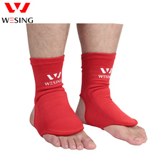 Wesing Free Shipping Boxing Instep Guard Professional Sanda Muay Thai Ankle Support Boxing Socks Foot Protector Pads 100% Cotton цена