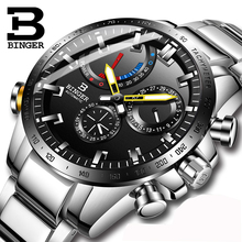 Luxury Brand Men Watches Switzerland BINGER Watch Men Automatic Mechanical Men Watch Sapphire Waterproof Energy display BS03-1 switzerland binger brand men automatic mechanical watches luminous waterproof full steel belt energy display male fashion watch