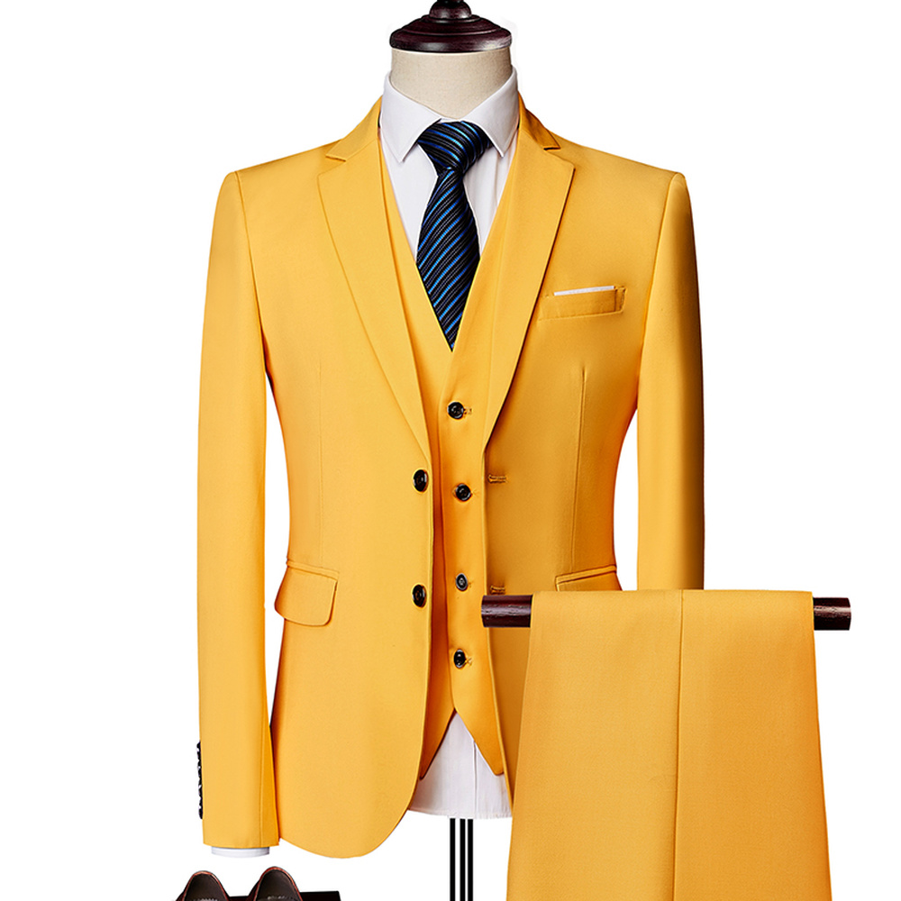 Merveilleux marié mâle mariage bal costume vert Slim Fit smoking hommes formel affaires travail porter costumes 3 pièces ensemble (veste + pantalon + gilet) - 5