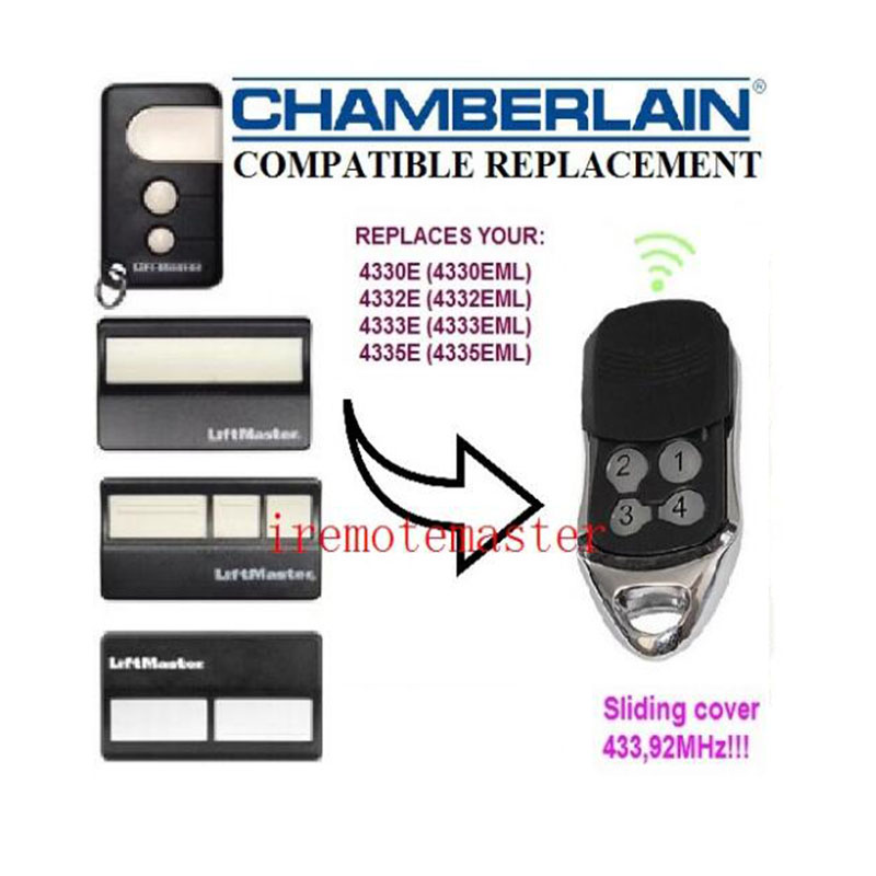 Compatible With The Chamberlain Liftmaster Remote 4335E 4330E 4332E Replacement Remote Control Free Shipping 433.92MHZ