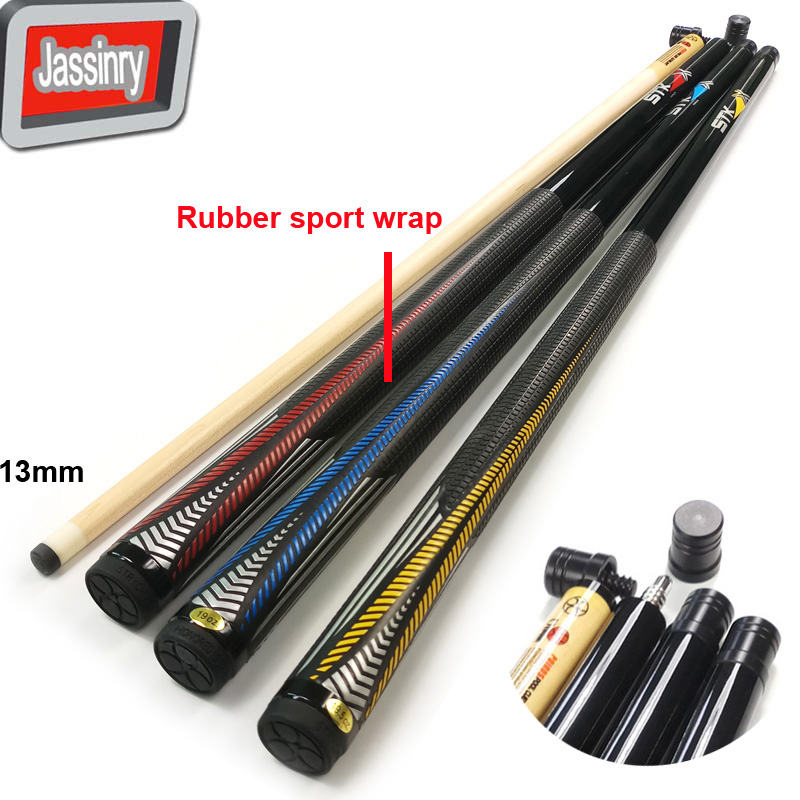 Jassinry 3colors optional Billiards Pool cues in 12 75mm 1 2 splited with joint protector rubber