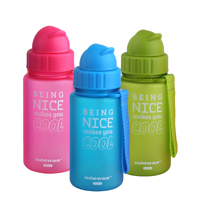 4 Colors Protable Baby Water Bottle 400ml Eco-Friendly Kettle With Rope Children Drinkware Healthy Durable Bottles