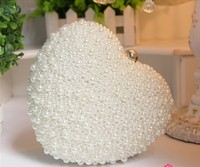 Women Bag Large New Pearl Heart Line Package Women Evening Bag Party Day Clutch Bag Dress