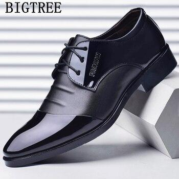 italian fashion men formal shoes leather party office shoes men wedding shoes sapato social scarpe uomo eleganti derbi grimentin Обувь