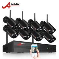 ANRAN Беспроводной CCTV Системы 1080 P 8CH NVR комплект HD H.265 IP Камера Wi Fi Home Security Ночное видение комплект видеонаблюдения