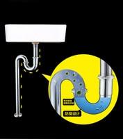 Bathroom Kitchen Basin Sink Shower Plumbing Round Bottle sink Vessel waste U trap Floor Drain Pipe 11 001