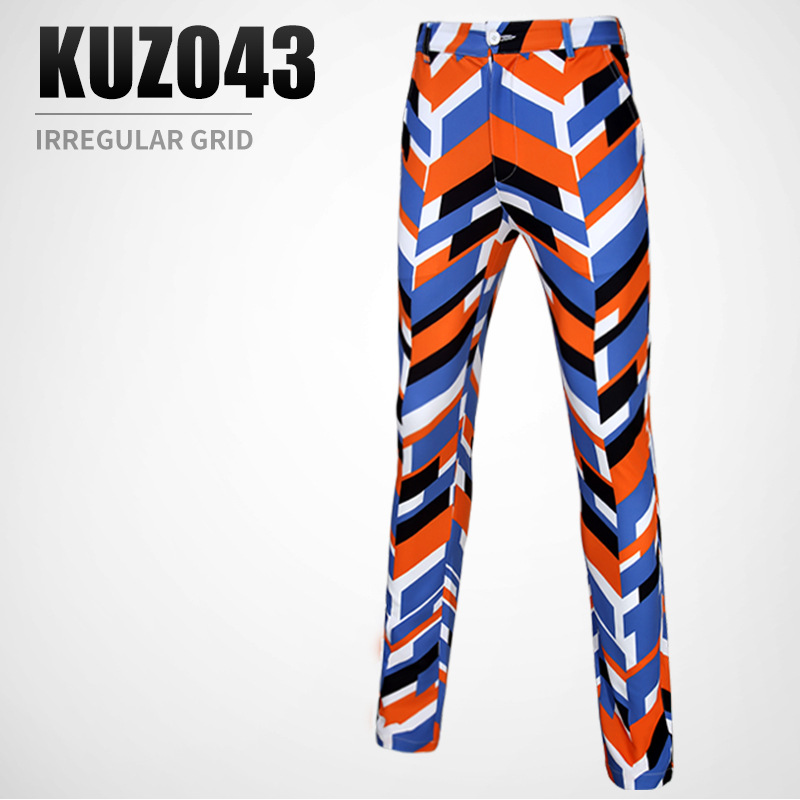 PGM spring summer golf Sportswear mens irregular pattern design printed pants breathable and quick-drying golf Sports trousers