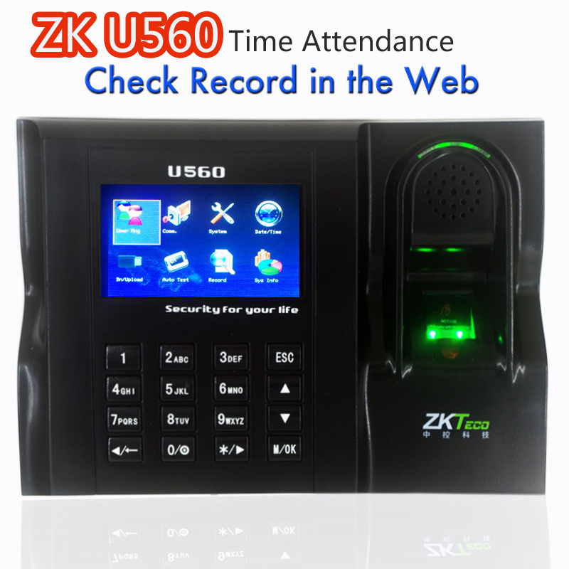 Software Web IE Server Browse Records ZKTeco U560 ZK Employee Time Attendance Web IE Server Browse Records  Finger Password