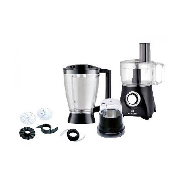 Кухонный комбайн Eurostek EFP-2049 (Мощность 800 Вт, пластиковый корпус, 2 скорости + режим Pulse; измельчитель 1.2л., блендер 1.75л., кофемолка)