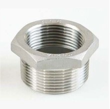 3/4 Male x 1/2 Female DN20-DN15 Reducer Bushing BSPT Thread Stainless Steel SS304 Pipe Fittings For Water Gas Oil brass pipe hex bushing reducer fittings 1 male bspt x 3 4 female bspp page 5