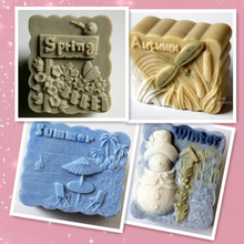 Spring, summer, autumn winter soap mold handmade craft silicone soap mould One year 4 seasons