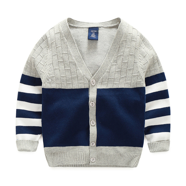 2d8835aba New Boy Sweaters Striped Cotton Top Warm Sweater For Boys Knitting ...